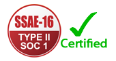 SSAE16 Type II SOC 1 Certification